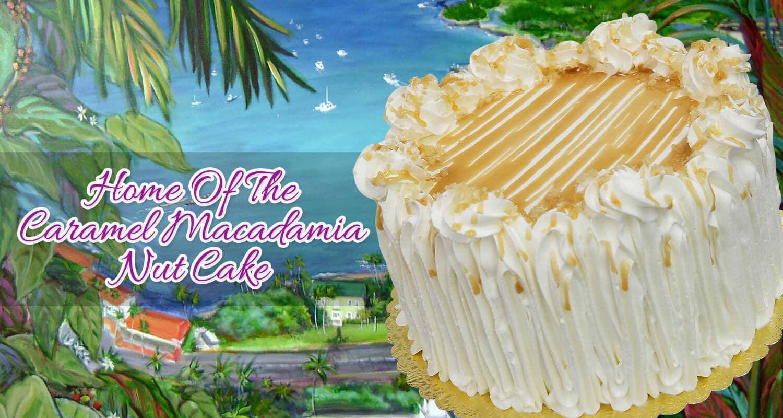 Astonishing Kona Kakes Home Of The Macadamia Nut Cake Funny Birthday Cards Online Necthendildamsfinfo